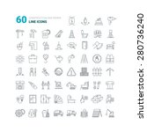 construction and repair icons.... | Shutterstock .eps vector #280736240