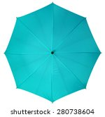 Blue Umbrella Isolated On Whit...
