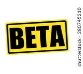 Beta Black Stamp Text On Yellow