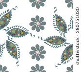 paisley seamless simple pattern ... | Shutterstock .eps vector #280751030