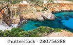 beautiful beaches of greece  ... | Shutterstock . vector #280756388