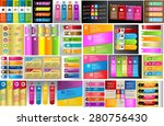 colorful modern text box... | Shutterstock .eps vector #280756430