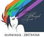beauty girl face | Shutterstock .eps vector #280764266