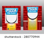 pizza flyer template design... | Shutterstock .eps vector #280770944