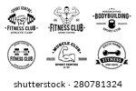 sport and fitness logo... | Shutterstock .eps vector #280781324