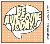 be awesome background ... | Shutterstock .eps vector #280785794