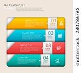 modern vector abstract step... | Shutterstock .eps vector #280786763