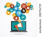 marketing  promotion concept.... | Shutterstock .eps vector #280796759
