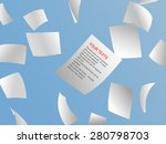 white papers flying on sky. | Shutterstock .eps vector #280798703