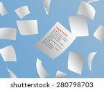 white papers flying on sky. | Shutterstock .eps vector #280798703