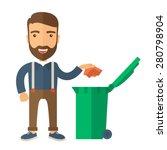 a caucasian man throwing a... | Shutterstock .eps vector #280798904