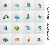 modern geometric design... | Shutterstock .eps vector #280798928