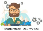 a mid adult male engineer... | Shutterstock .eps vector #280799423