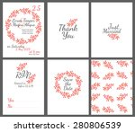 invitation wedding card set... | Shutterstock .eps vector #280806539