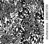 doodle zen tangle floral retro... | Shutterstock .eps vector #280807250