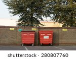 Large Red Recycling Bins...