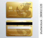 set of premium credit cards ... | Shutterstock .eps vector #280811120