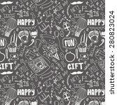 birthday seamless pattern. hand ... | Shutterstock .eps vector #280823024