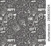 birthday seamless pattern. hand ... | Shutterstock .eps vector #280823024