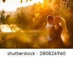 groom and bride is hugging on... | Shutterstock . vector #280826960