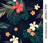 summer colorful hawaiian... | Shutterstock .eps vector #280827590