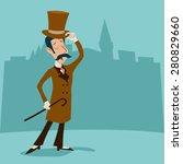 vintage great britain victorian ...   Shutterstock .eps vector #280829660