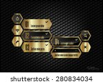 black and gold design layout.... | Shutterstock .eps vector #280834034