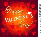 illustration with red valentine ... | Shutterstock . vector #280838159