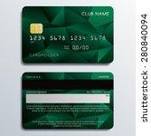 set of premium cards in... | Shutterstock .eps vector #280840094