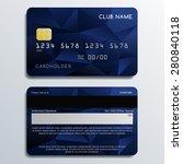 set of premium cards in... | Shutterstock .eps vector #280840118
