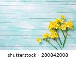 Background With Little Yellow...