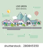 thin line flat design of...   Shutterstock .eps vector #280845350