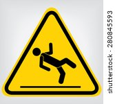 wet floor sign | Shutterstock .eps vector #280845593