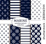 set of sea and nautical... | Shutterstock .eps vector #280846544