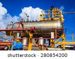 offshore industry oil and gas... | Shutterstock . vector #280854200