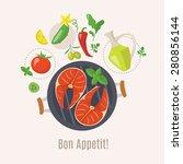 cooking info graphics. let's... | Shutterstock .eps vector #280856144