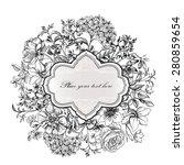 flower frame. vintage floral... | Shutterstock .eps vector #280859654