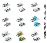vector isometric icon set... | Shutterstock .eps vector #280863908