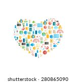 heart social network with media ... | Shutterstock .eps vector #280865090