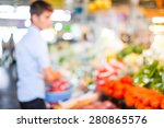 blur market background with... | Shutterstock . vector #280865576