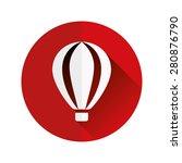 hot air balloon flat icon | Shutterstock .eps vector #280876790