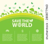 save the world  | Shutterstock .eps vector #280877960