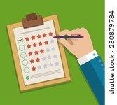 customer feedback concept. hand ... | Shutterstock .eps vector #280879784
