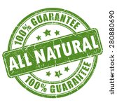 natural guarantee stamp | Shutterstock .eps vector #280880690