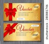 voucher template  gift... | Shutterstock .eps vector #280881746