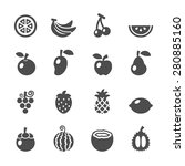 fruit icon set  vector eps10. | Shutterstock .eps vector #280885160