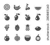 fruit icon set  vector eps10. | Shutterstock .eps vector #280885160