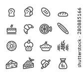 bakery icon set  line version ... | Shutterstock .eps vector #280885166