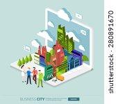 flat design concept the city... | Shutterstock .eps vector #280891670