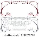 vector template for the design... | Shutterstock .eps vector #280894208